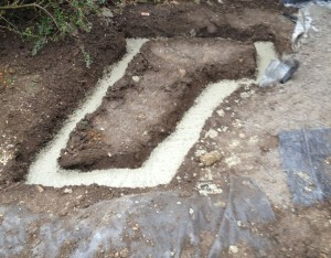 Footings for the Build-in Swiss Grill